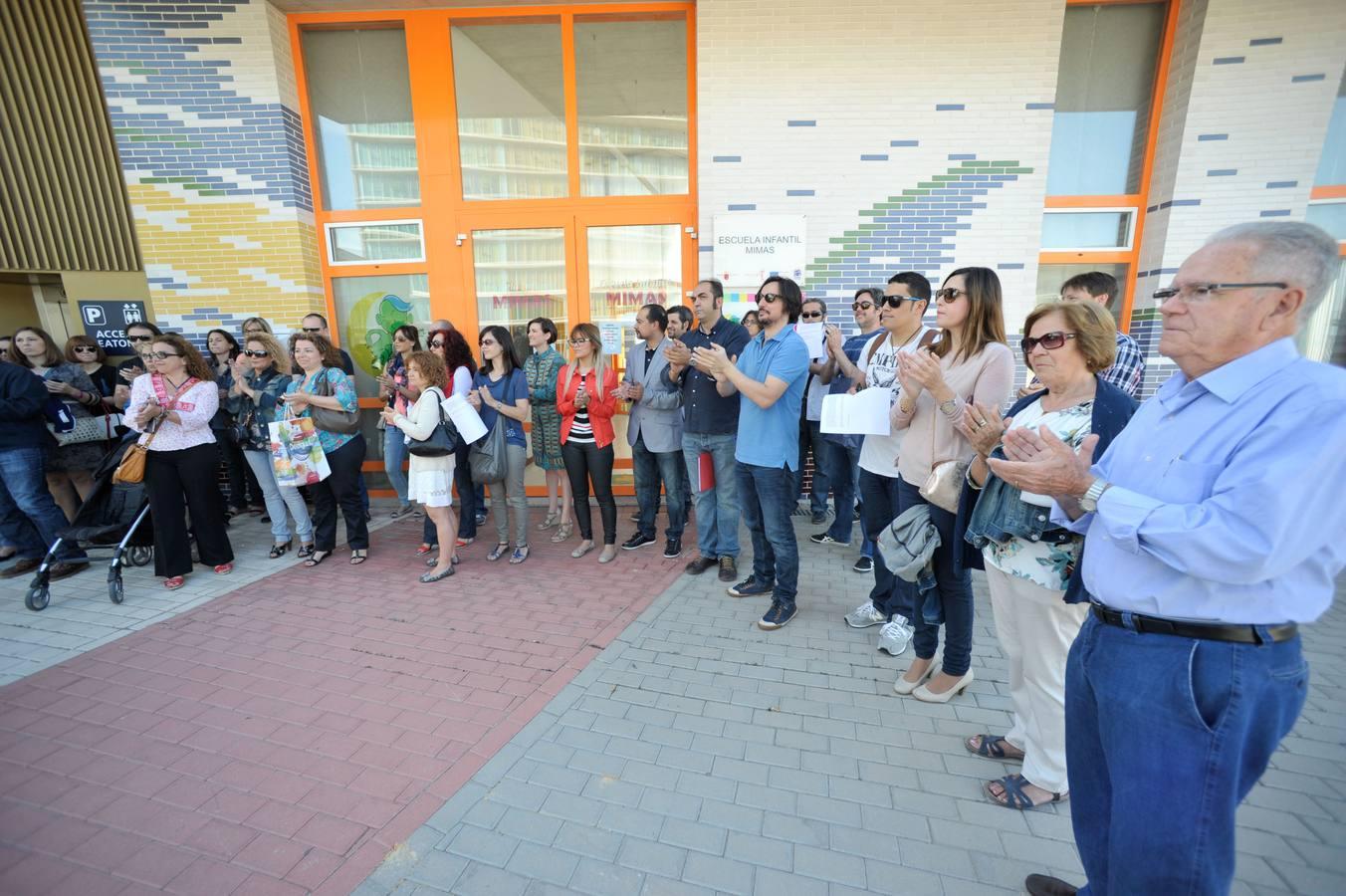 Protesta de los padres de la guardería Mimas