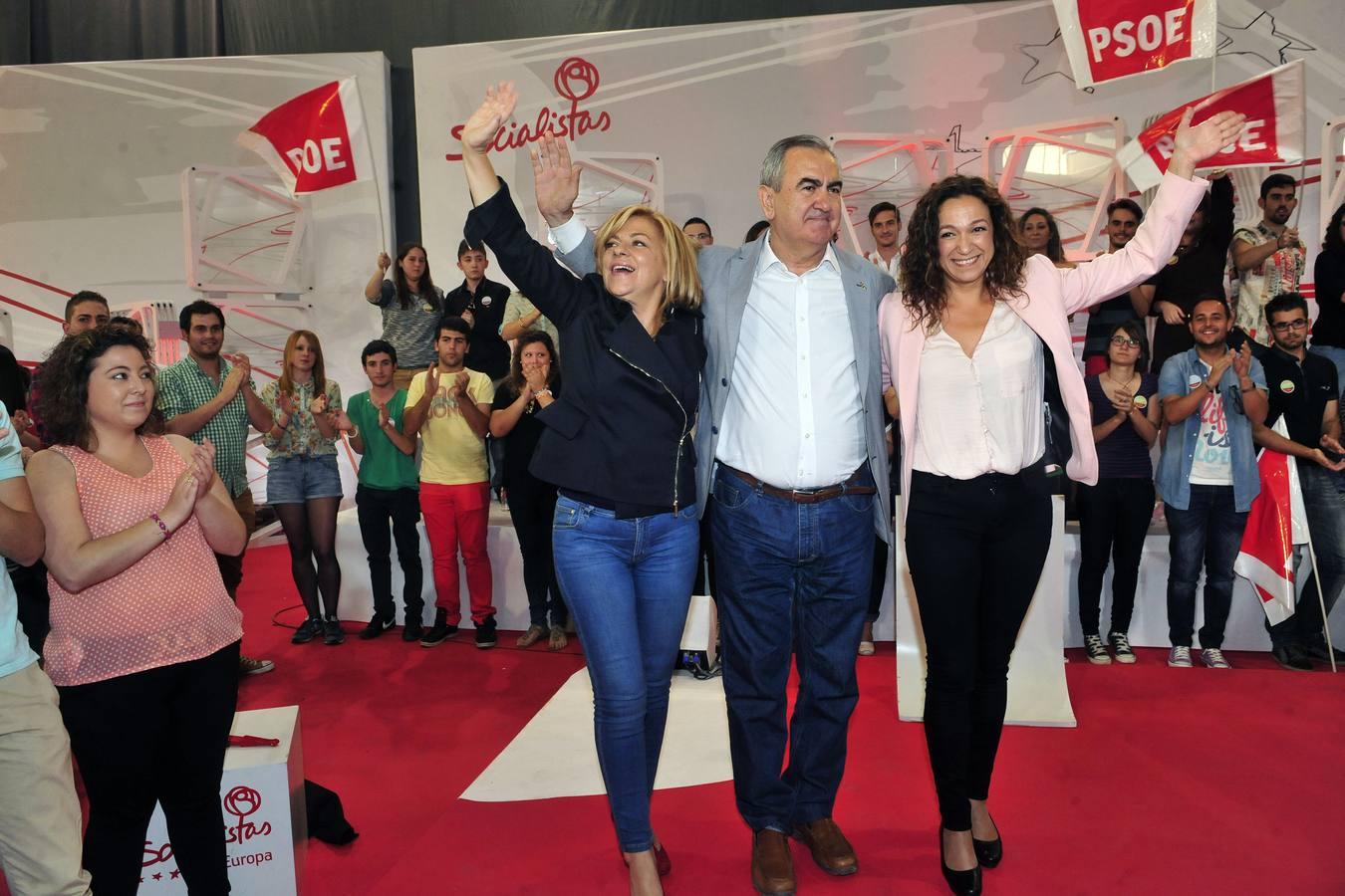 Valenciano protagoniza el mitin del PSOE en Murcia