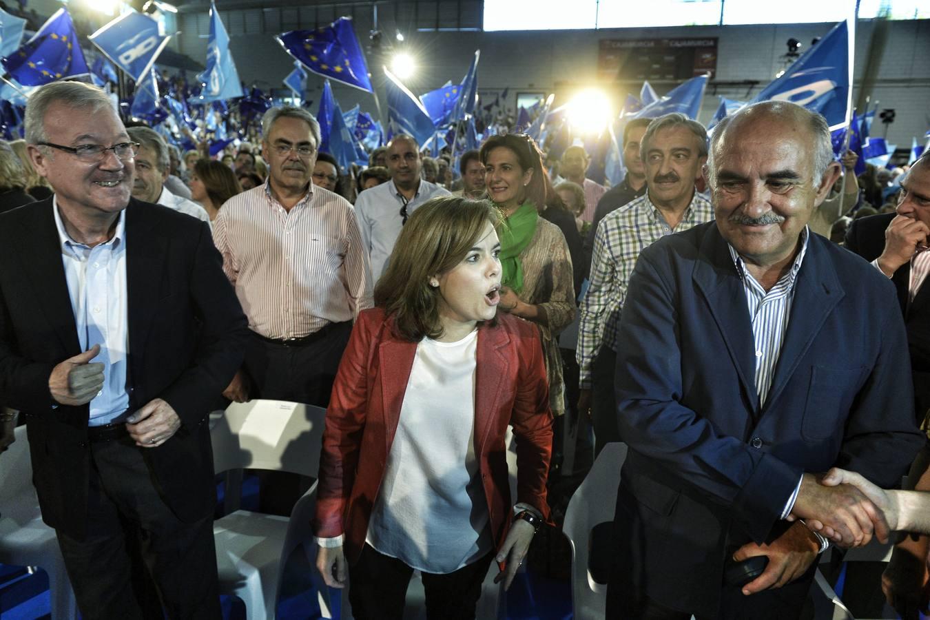Santamaría protagoniza el mitin del PP en Murcia
