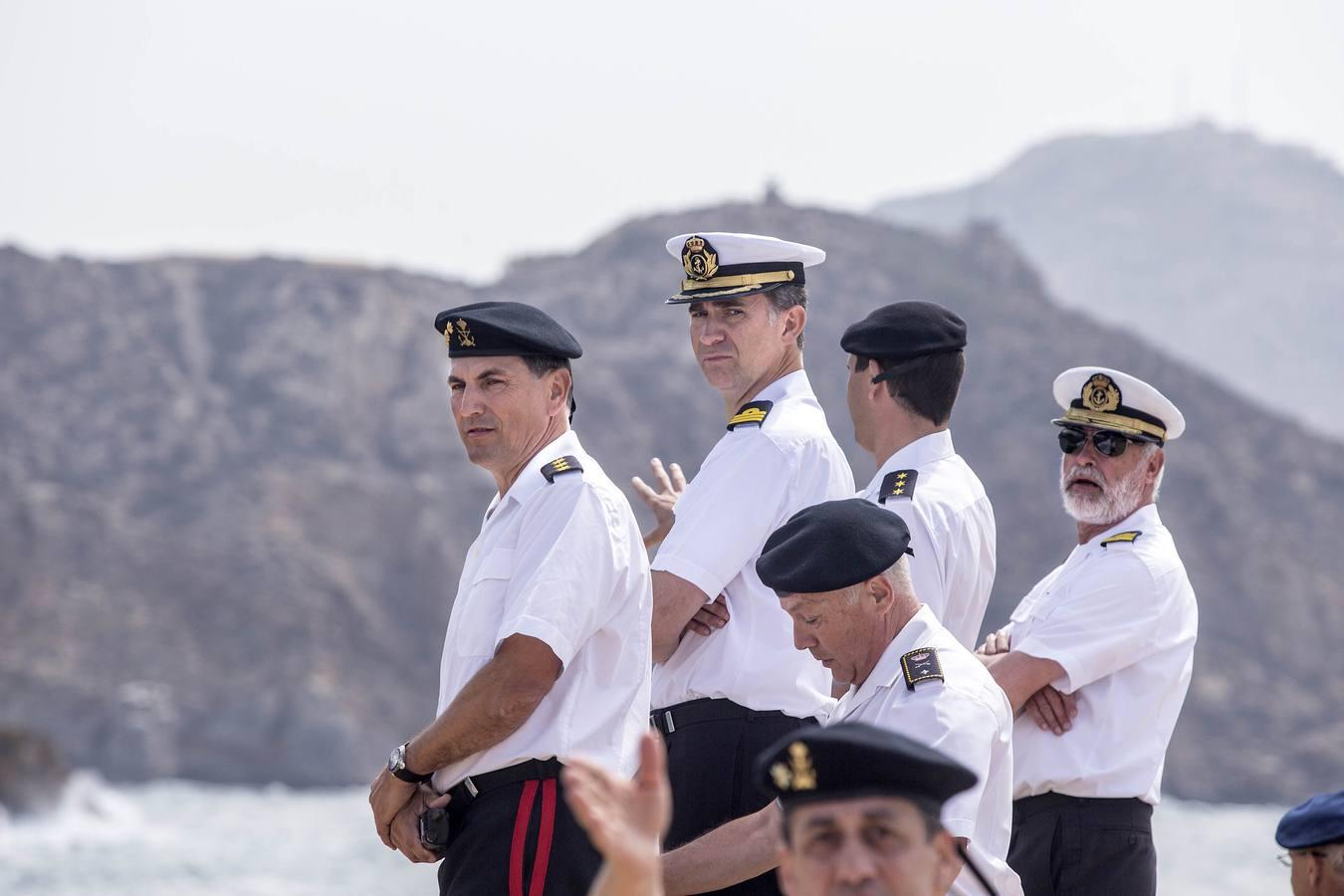 El Príncipe asiste a los ejercicios del Marsec 2014